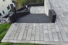 Außenanlage mit Koi Becken / Erpel